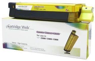 Toner Cartridge Web Yellow OKI C5650 zamiennik 43872305